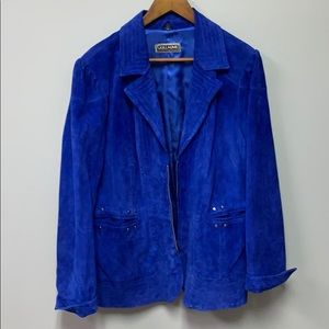 Guillaume Blue Leather women's 1X jacket